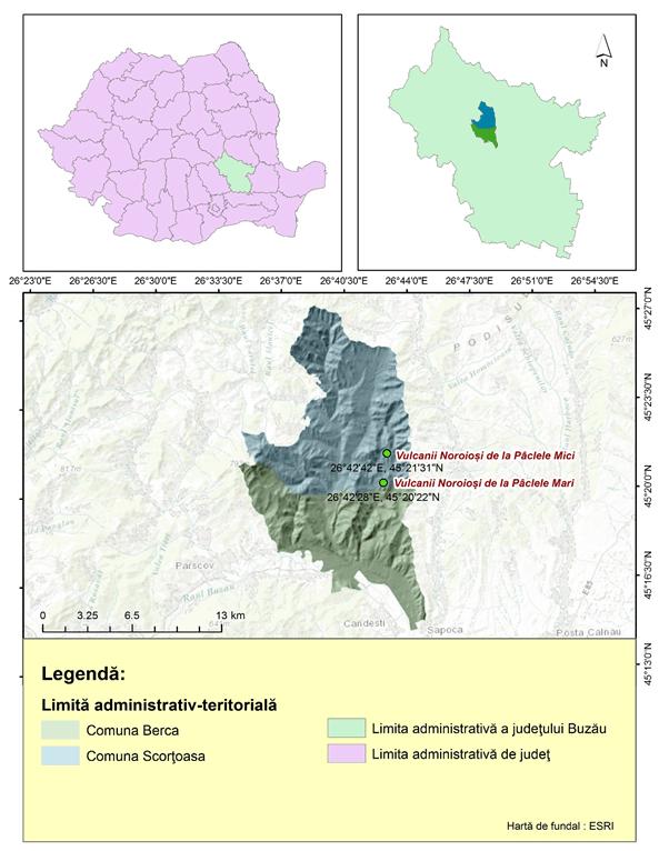 Vulcanii Noroiosi harta